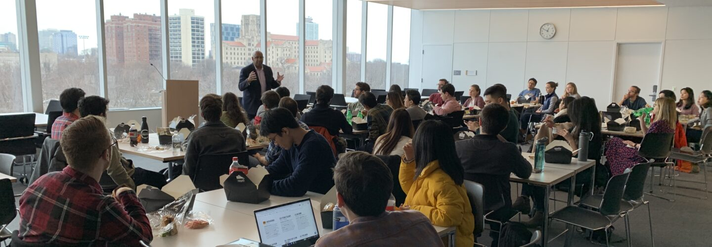 CAPP students attend a lecture with Harris Senior Fellow Michael Nutter, former Mayor of Philadelphia